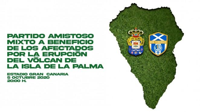 La UD Las Palmas y Egatesa Tenerife jugarán un amistoso mixto en favor de La Palma
