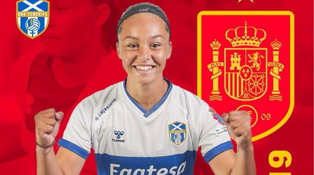 La lanzaroteña Ainhoa Delgado goleadora con la Selección Española Sub19